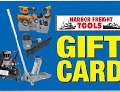 Buy Discount Harbor Freight Tools Gift Cards to save money on power tools