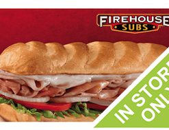 Buy discount gift cards for Firehouse Subs