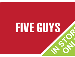 Buy a discount Five Guys gift card online