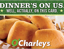 Buy a discount O'Charley's gift card online